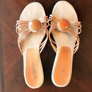 Jasmin Flex Size 10 Copper Slide Sandals